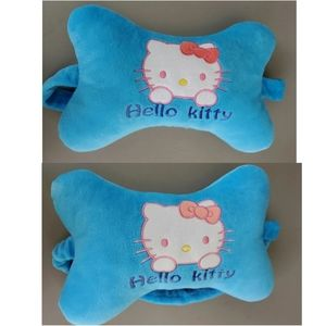 Pair of teal Hello Kitty chair or carseat pillows